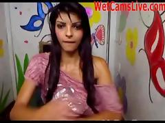 Hot Teen Latina Masturbates On Cam! tube porn video