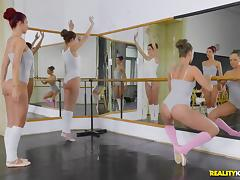 Stunning dancer Blue Angel bends over for a stiff boner tube porn video