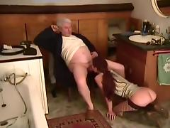 Redhead In Stockings Fucked By Old Man tube porn video