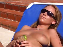 Cindy Dollar and Carla Cox enjoy a massive dick on a beach tube porn video