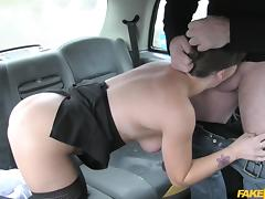 hot babe eats ass in the backseat tube porn video