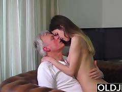 Old and Young Porn - Babysitter pussy fucked by old man tube porn video