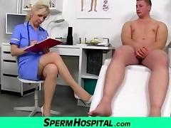 Stockings legs milf doctor Maya cum on tits tube porn video
