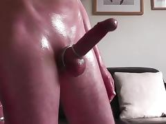 HD Soft cock foreskin play oily fun and huge handsfree cum tube porn video