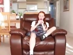 Daughter caught using toy but stepdad forgives her! tube porn video