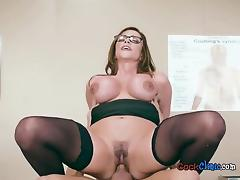 Luscious Doctor Ariella Ferrera Straddles Her Patient tube porn video