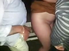 Chubby british gf dogging with old men tube porn video