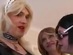 Crossdressers Having Fun tube porn video