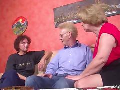 Oma und Opa treiben es mit der geilen Nachbarin tube porn video