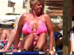 Spy beach mature granny saggy huge nipples tube porn video