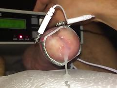 Cockhead estim electro with slow motion cumshot tube porn video