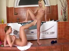 Fabulous pornstars Jessie Volt and Blue Angel in exotic blowjob, masturbation sex movie tube porn video