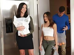 Ariella Ferrera & Sara Luvv in A Family Affair - MomsTeachSex tube porn video