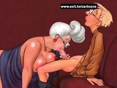Boys pleasing cougars in cartoon fantasies tube porn video