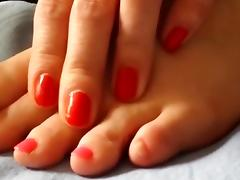 Toenails Polish tube porn video