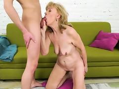 Nasty granny Szuzanne needs Olivers boner to bang her pussy tube porn video