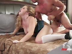 Georgia James is a nasty blonde in need of a stiff dick tube porn video