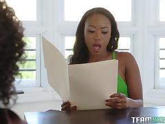 Black babes Chanell Heart and Misty Stone have a blast while shagging tube porn video