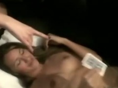 This slut sucks her boyfriend off in her dorm room tube porn video