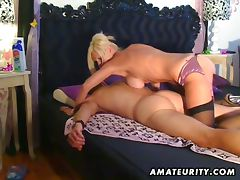Busty amateur escort sucks and fucks tube porn video