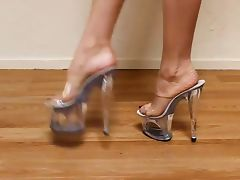 Sexy feet clear plattform Sexys tacones tube porn video