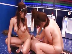 Super horny japanese babes in extreme tube porn video