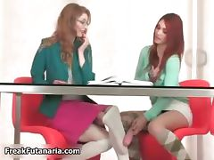 Sexy redhead and blonde babes get horny part6 tube porn video