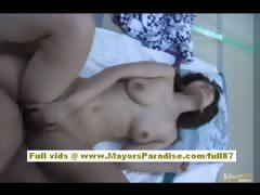 Japanese AV model gets to ride a hard cock tube porn video