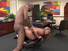 Office milf and her big black lover tube porn video