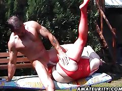Chubby amateur MILF yummy creampie tube porn video