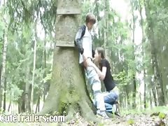 Adventure blowjob in the forest tube porn video