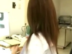 Japanese nurse blowjob and facial cumshot tube porn video