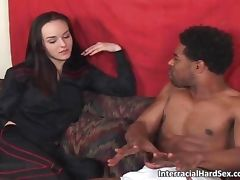 Black stud with enormous dick fucked tube porn video