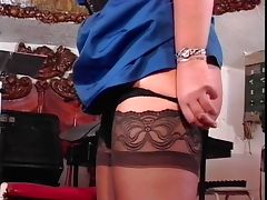 Slut in stockings gets ass spanked tube porn video