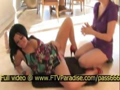 Lilith tender hot brunette babe on the floor tube porn video