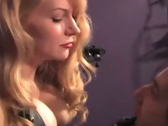 Lustful domina smokes over her wimpy sub tube porn video