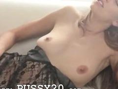 darkhair testing black toy tube porn video