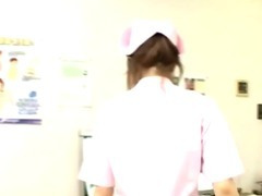 Japanese nurse cock jerking and cumshot action tube porn video