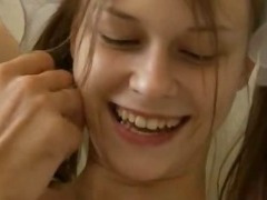 Busty teen sex on the parents sofa tube porn video
