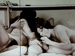 Wife's Friend Joins for a FFM Threesome 1960 tube porn video