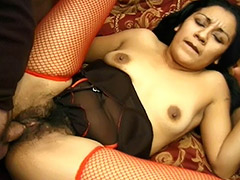 Cum Thirsty Latina Likes When Her Hairy Pussy Being Fucked by a Stranger tube porn video