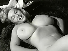 Enormous Tits Under Sexy White Lingerie 1950 tube porn video