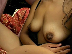 Amateur Brunette with Big Nipples and Hairy Cunt is Fucked and Her Pussy Covered with Semen tube porn video