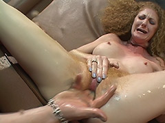 Supernatural Hairy Pussy Squirts for a Good Licking and Awesome Fucking tube porn video