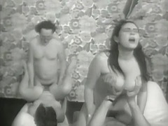 Nasty Anal Swinger Foursome 1960 tube porn video