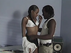 Beautiful Black Princess with an Outstanding Unshaven Cunt Receives Unforgettable Hardcore on Her Bed tube porn video