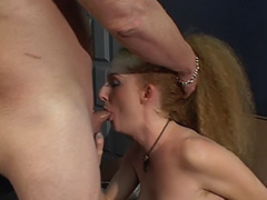 Hairy Redhead Receives a Dose of Exploitation of Her Squirting Unshaven Cunt by a Tattooed Guy tube porn video