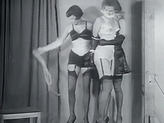 Two Villains one Damsel in Fetish Distress 1950 tube porn video