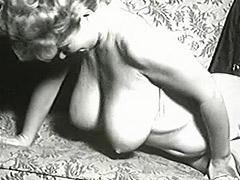 Delightful Pornstar Shakes Her Boobies 1950 tube porn video