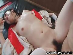 Cute asian brunette hoe sucks hard cock part6 tube porn video